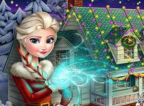 Elsa Aranjeaza Casa de Craciun