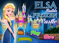Elsa Construieste Castelul de Gheata