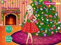 Elsa Decoreaza Pomul de Craciun