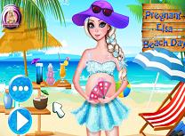 Elsa Insarcinata pe Plaja