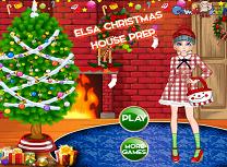 Elsa Pregateste Casa de Craciun