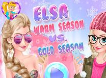 Elsa Sezonul Cald si Sezonul Rece