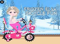 Elsa cu Bicicleta