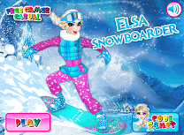 Elsa cu Snowboardul