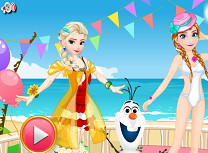 Elsa si Anna Costume de Baie