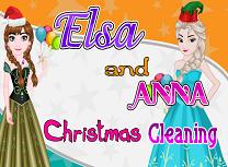 Elsa si Anna Curatenie de Craciun