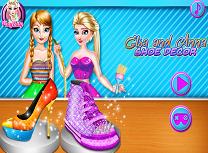 Elsa si Anna Decor de Pantofi