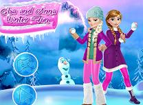 Elsa si Anna Distractie Iarna