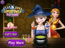Elsa si Anna Potiuni Pentru Super Puteri