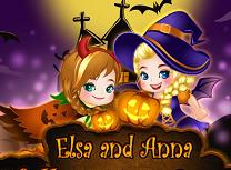 Elsa si Anna Poveste de Halloween