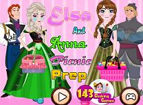 Elsa si Anna Pregatiri de Picnic