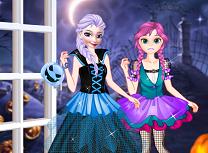 Elsa si Anna Primul Halloween