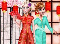 Elsa si Anna in Japonia