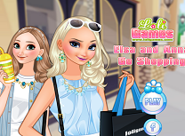 Elsa si Anna la Cumparaturi