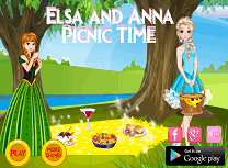 Elsa si Anna la Picnic