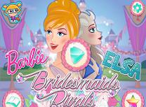 Elsa si Barbie Domnisoare de Onoare