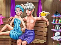 Elsa si Jack la Sauna