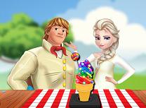 Elsa si Kristoff Fac Inghetata