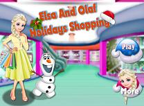 Elsa si Olaf Cumparaturi de Sarbatori