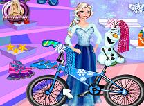Elsa si Olaf Decoreaza Bicicleta