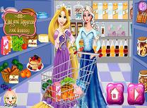 Elsa si Rapunzel la Cumparaturi