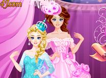 Elsa si Sora Ei de Imbracat