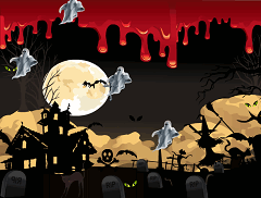 Fantome in Cimitir