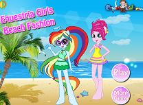 Fetele Equestria pe Plaja