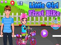 Fetita si Prima Bicicleta