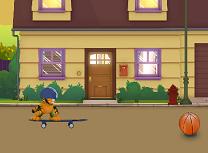 Garfield pe Skateboard