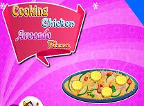 Gateste Pizza cu Pui si Avocado