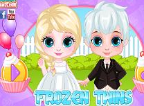 Gemenii Frozen Pregatiri de Aniversare