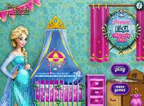 Gravida Elsa Decoreaza Camera Copilului