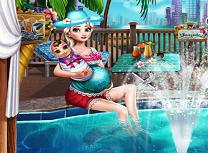Gravida Elsa la Piscina