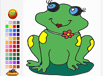 Happy Frog Coloring