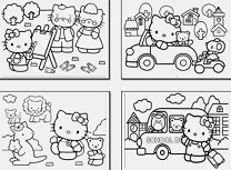 Hello Kitty Carte de Colorat