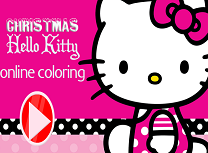 Hello Kitty Coloreaza de Craciun 2