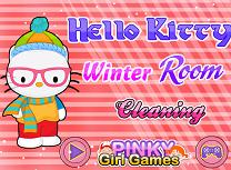 Hello Kitty Curatenie de Iarna