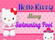 Hello Kitty Curatenie la Piscina