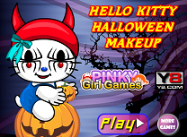 Hello Kitty Machiaj de Halloween