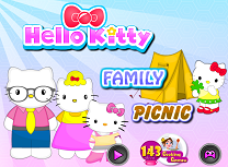 Hello Kitty Picnic in Familie