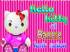 Hello Kitty la Coaforul Barbie