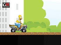 Homer Simpson cu Atv-ul