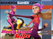 Honey Lemon cu Motocicleta