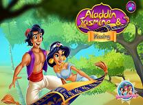 Jasmine si Aladdin Saruturi
