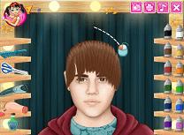 Justin Bieber la Coafor