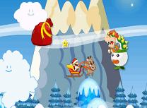 Mario cu Sania lui Mos Craciun