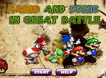 Mario si Sonic Marea Batalie