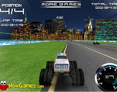Masina Monster Truck de Politie 3D