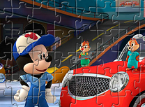 Mickey si Roadster Racers Puzzle